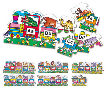 ALPHABET TRAIN FLOOR PUZZLE  英文字母火車拼圖